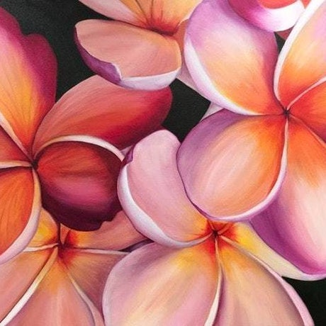 (CreativeWork) Tropical Blush (Price adjusted) by Hayley Kruger. Acrylic Paint. Shop online at Bluethumb.