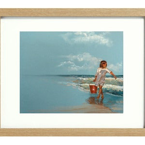 (CreativeWork) Beach Bucket [framed] Ed. 1 of 20 by Donna Christie. print. Shop online at Bluethumb.