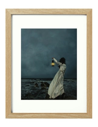 (CreativeWork) Waiting [framed] Ed. 1 of 20 by Donna Christie. Print. Shop online at Bluethumb.