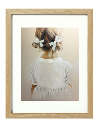 (CreativeWork) Miss Ribbons [framed] Ed. 1 of 20 by Donna Christie. Print. Shop online at Bluethumb.