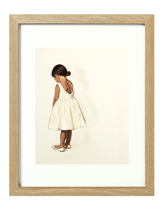 (CreativeWork) The Party Dress [framed] Ed. 1 of 20 by Donna Christie. Print. Shop online at Bluethumb.