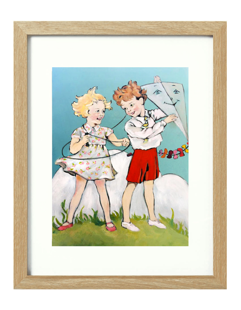 (CreativeWork) The Windy Day [framed] Ed. 1 of 20 by Donna Christie. Print. Shop online at Bluethumb.
