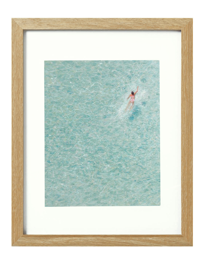 (CreativeWork) Lonely swimmer [framed] Ed. 1 of 20 by Donna Christie. Print. Shop online at Bluethumb.
