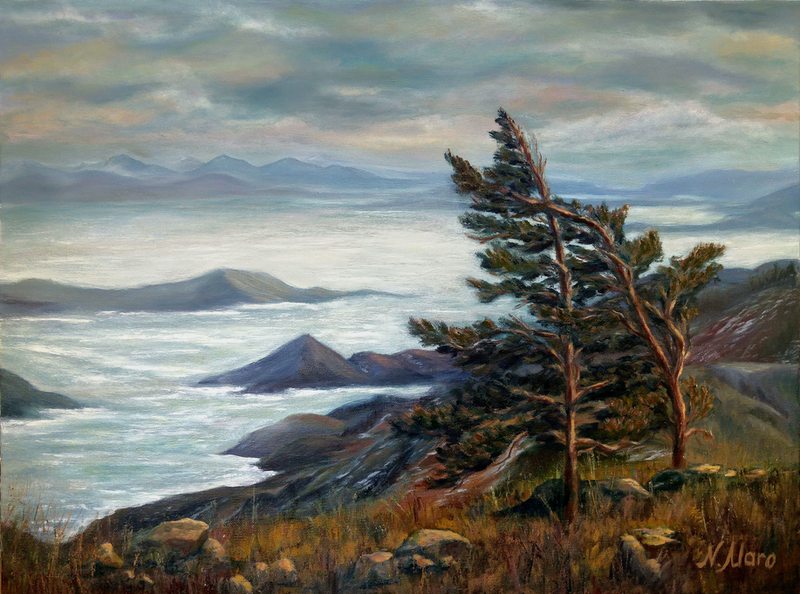 (CreativeWork) North Landscape  by Natalie Maro. Oil Paint. Shop online at Bluethumb.