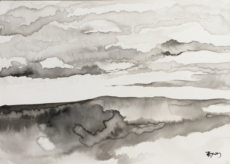 (CreativeWork) Ink Horizon  by Kylie Fogarty. Drawings. Shop online at Bluethumb.