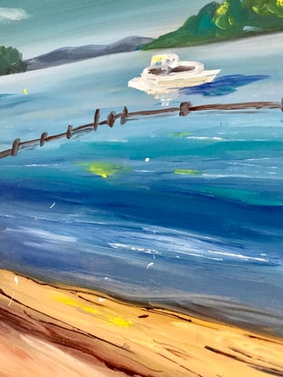 (CreativeWork) Tidal Pool by Virginia Harding. Oil Paint. Shop online at Bluethumb.