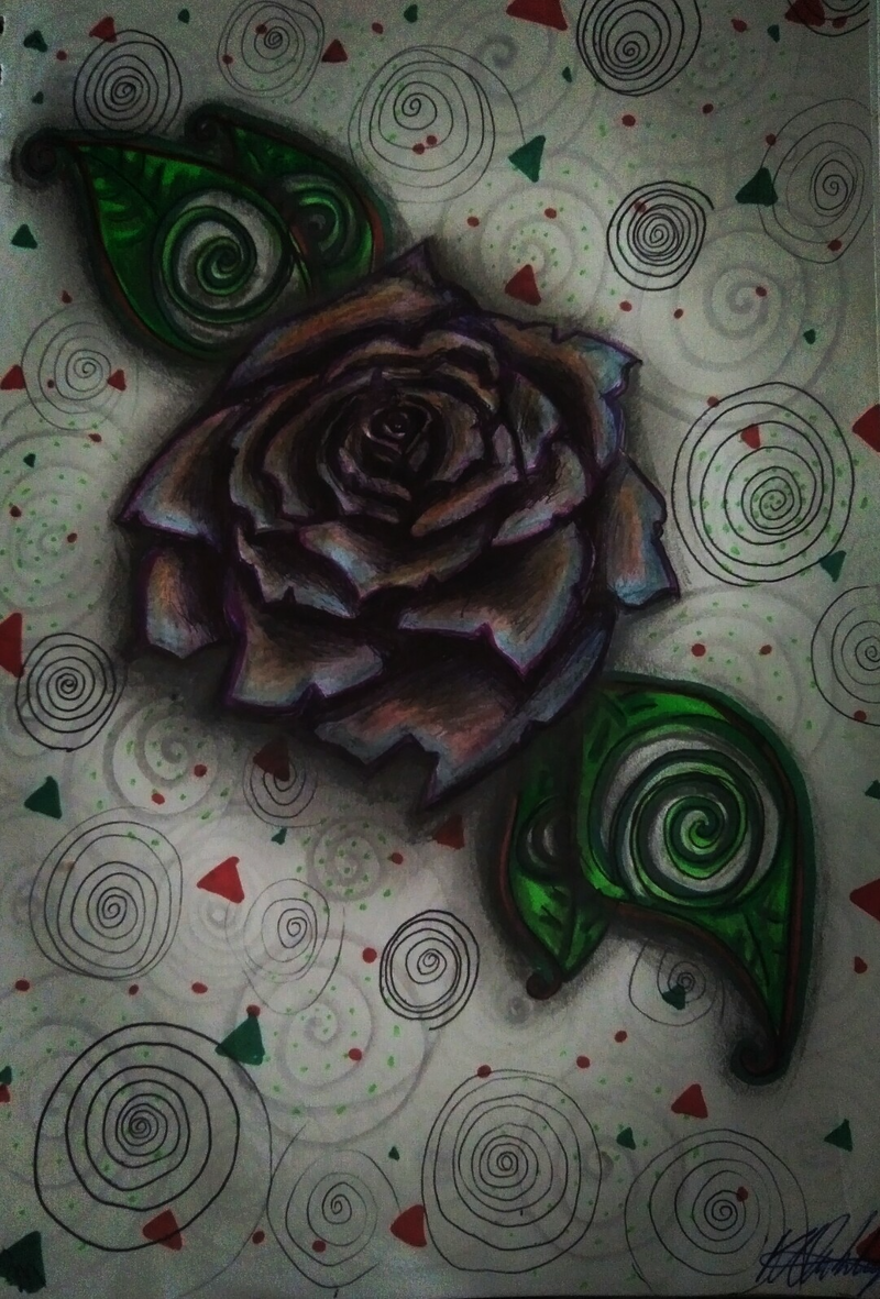(CreativeWork) Rose of Triangular Spiralture (allow 2 days for framing) by K.A. Oakley. Drawings. Shop online at Bluethumb.