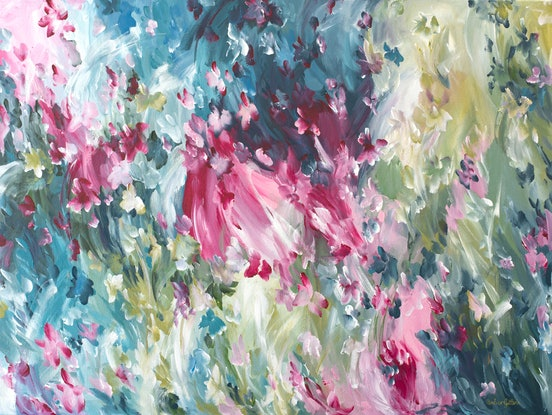 (CreativeWork) Endless Moments by Amber Gittins. Acrylic Paint. Shop online at Bluethumb.