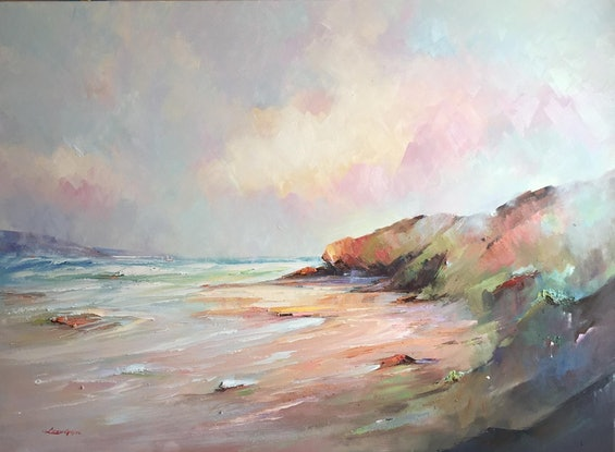 (CreativeWork) Sorrento back beach #11 by Liliana Gigovic. Oil Paint. Shop online at Bluethumb.
