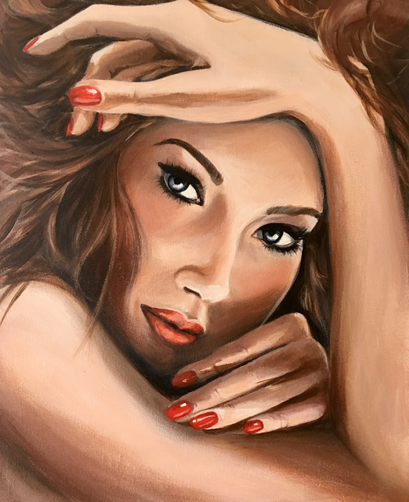 (CreativeWork) Amber by Kathryn Johnston. Acrylic Paint. Shop online at Bluethumb.