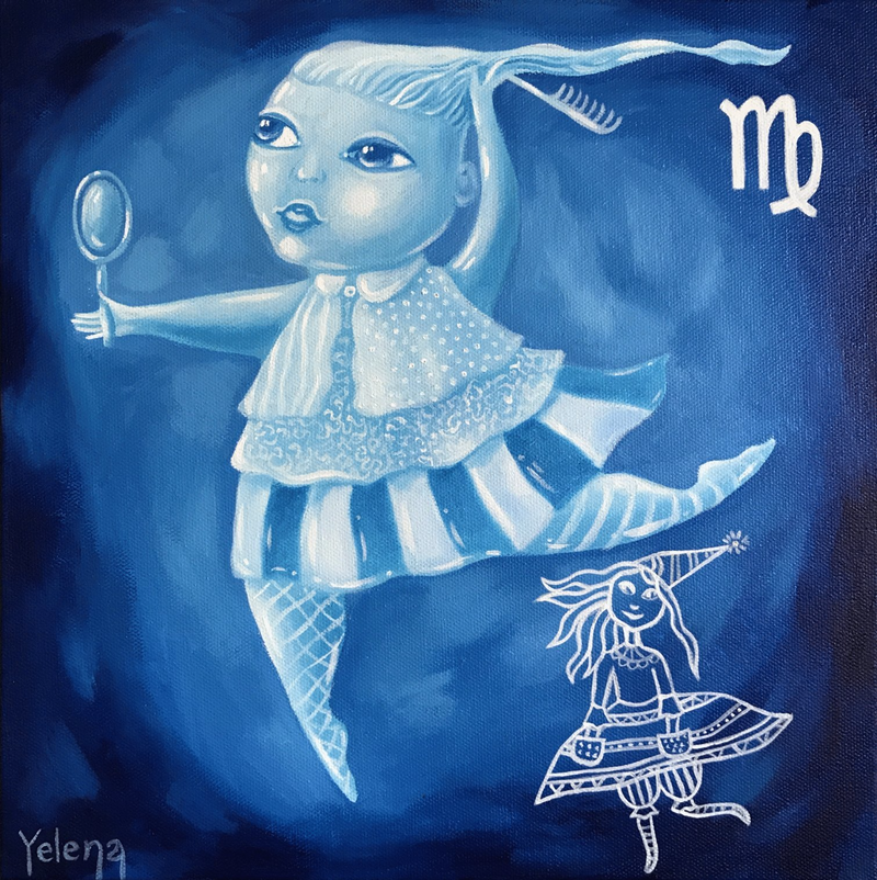 (CreativeWork) Virgo: The Virgin by Yelena Revis. Oil Paint. Shop online at Bluethumb.