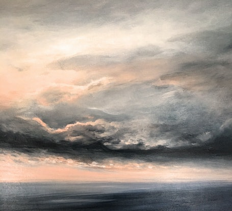 (CreativeWork) Storm Starting by Kathryn Johnston. Acrylic Paint. Shop online at Bluethumb.