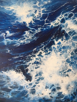 (CreativeWork) Above the Sea by Kathryn Johnston. Acrylic Paint. Shop online at Bluethumb.