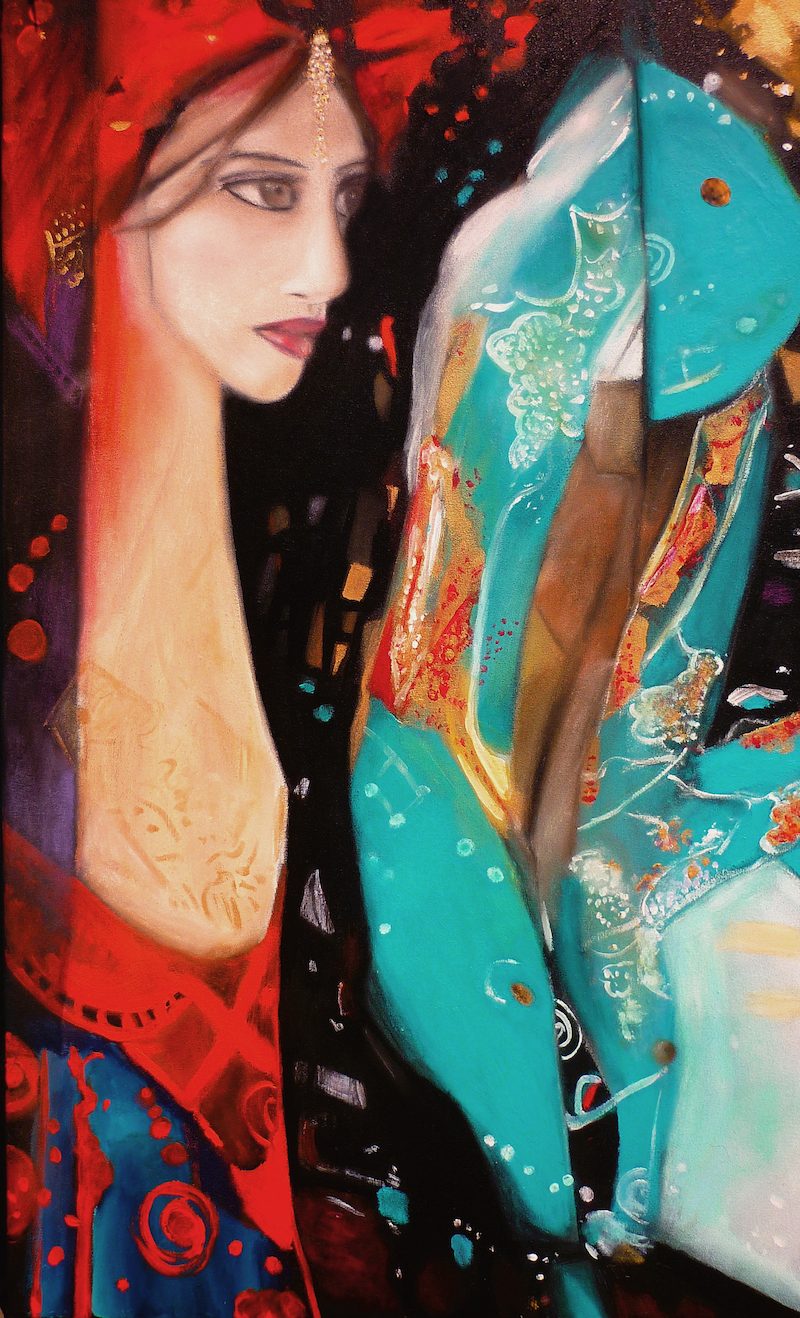 """(CreativeWork) """"The Promised Bride"""" by Cate Townsend. Mixed Media. Shop online at Bluethumb."""