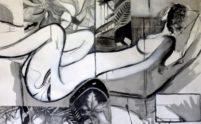 """(CreativeWork) """"Afternoon Repose"""" by Cate Townsend. Drawings. Shop online at Bluethumb."""
