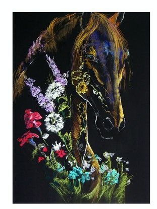 (CreativeWork) Spring Equus2 by Christine Lawrence. Other Media. Shop online at Bluethumb.