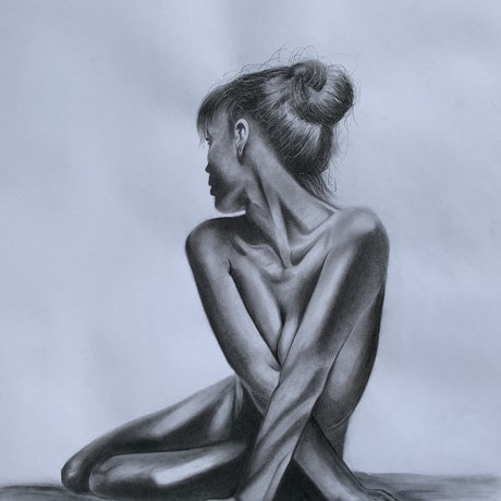 (CreativeWork) Lost in thought by Brenden Jordaan. Drawings. Shop online at Bluethumb.