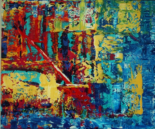 (CreativeWork) Layers by Ric Connors. Acrylic Paint. Shop online at Bluethumb.