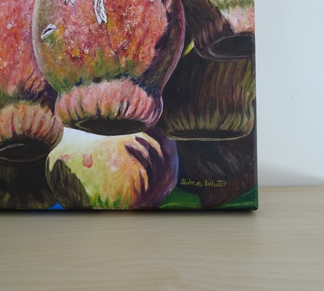 (CreativeWork) Marri Gumnuts by Delma White. Oil Paint. Shop online at Bluethumb.