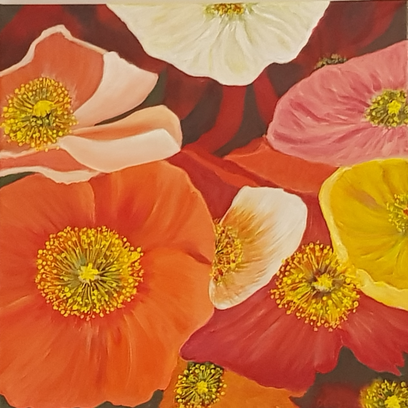 (CreativeWork) Radiant by Donna Cozens. Acrylic Paint. Shop online at Bluethumb.