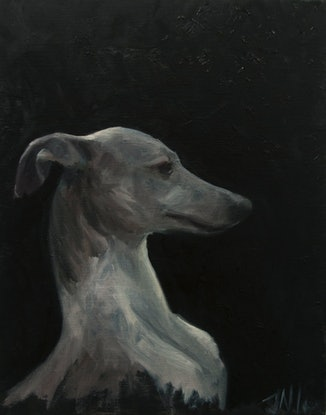 (CreativeWork) Tilly by James Needham. Oil Paint. Shop online at Bluethumb.