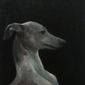 (CreativeWork) Tilly by James Needham. oil-painting. Shop online at Bluethumb.