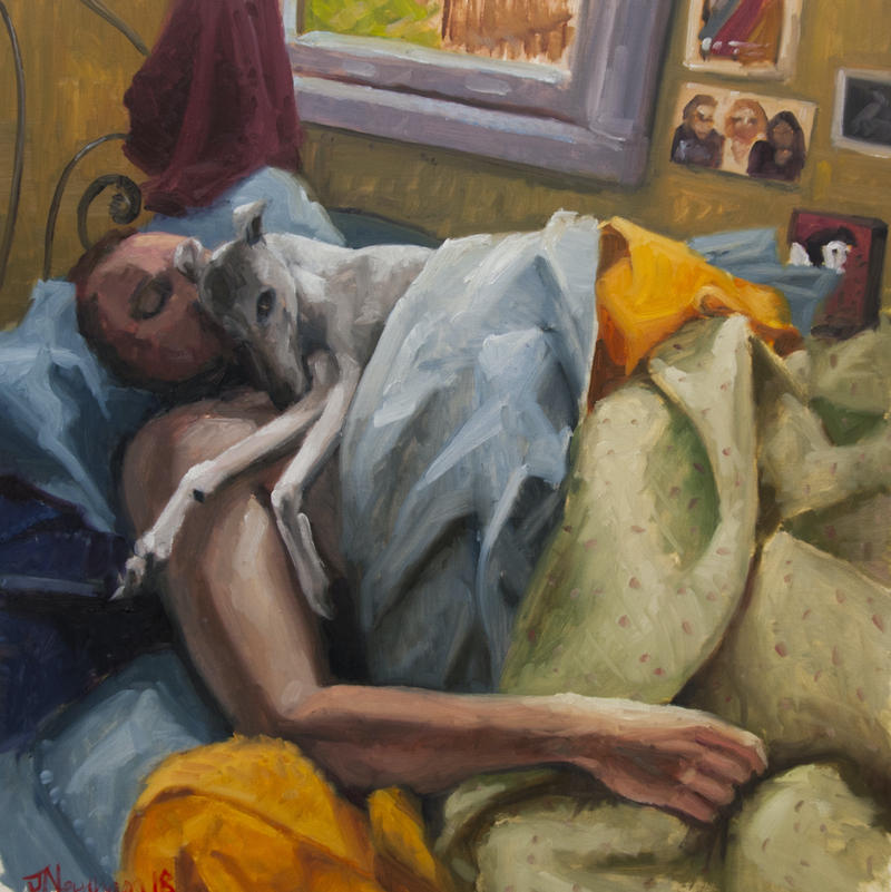 (CreativeWork) Self Portrait, Sunday Morning by James Needham. Oil Paint. Shop online at Bluethumb.