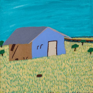 (CreativeWork) Station House (15-TA35) by Lindy Brodie. arcylic-painting. Shop online at Bluethumb.