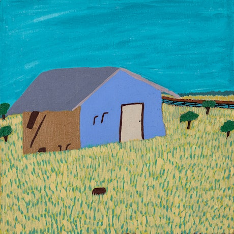 (CreativeWork) Station House (15-TA35) by Lindy Brodie. Acrylic Paint. Shop online at Bluethumb.
