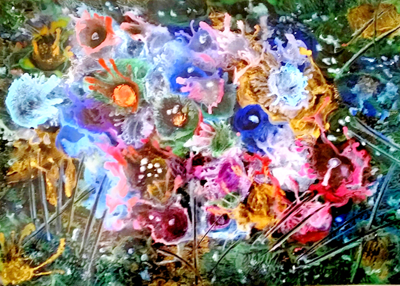(CreativeWork) Medley Of Flowers by Trudie Moore. Other Media. Shop online at Bluethumb.