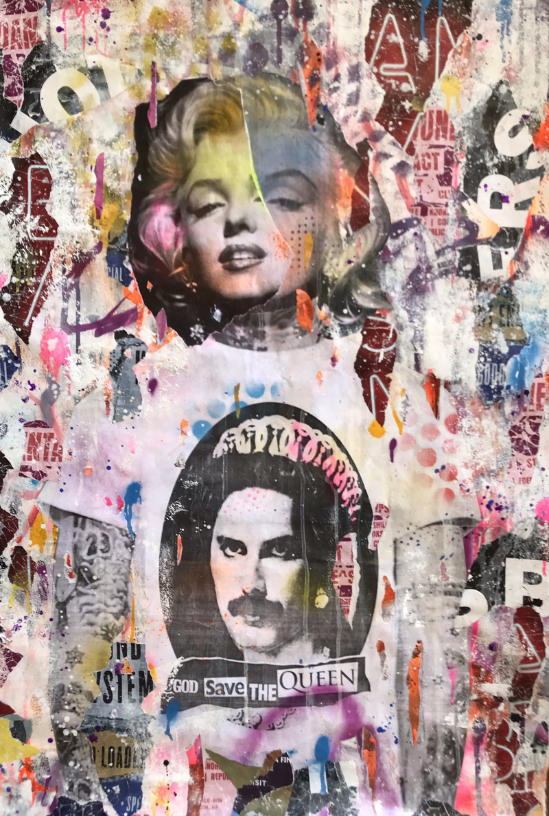 (CreativeWork) Monroe Mercury  by Cold Ghost. Mixed Media. Shop online at Bluethumb.