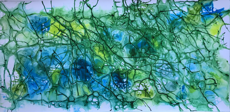(CreativeWork) Nullah Fortuitous by Ingrid Russell. Acrylic Paint. Shop online at Bluethumb.