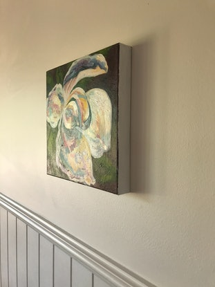 (CreativeWork) Magnolia by Deborah Green. Acrylic Paint. Shop online at Bluethumb.