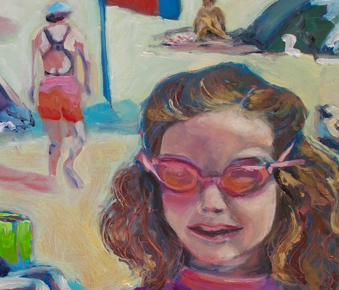 (CreativeWork) On the boogie, Freshwater Beach, Sydney by fiona smith. Oil Paint. Shop online at Bluethumb.
