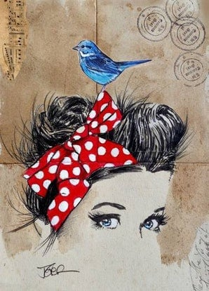 (CreativeWork) NEVER TO FAR by loui jover. Mixed Media. Shop online at Bluethumb.