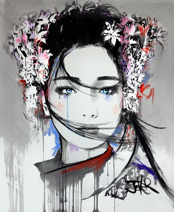 (CreativeWork) YIN by loui jover. Drawings. Shop online at Bluethumb.