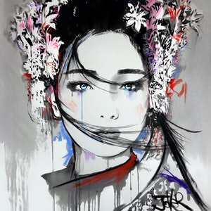 (CreativeWork) YIN by loui jover. drawing. Shop online at Bluethumb.