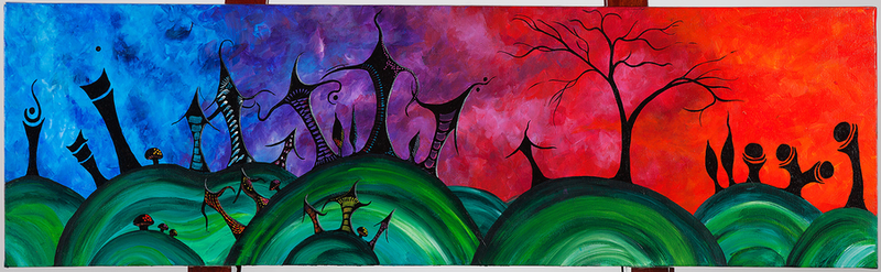 (CreativeWork) Living in a Dream by Gretta Hayward. Acrylic Paint. Shop online at Bluethumb.
