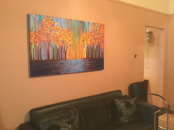 (CreativeWork) Autumn by Gretta Hayward. Acrylic Paint. Shop online at Bluethumb.