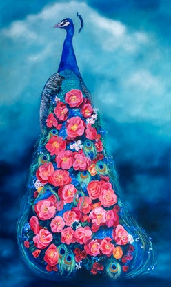 (CreativeWork) Cascade by Mia Laing. Oil Paint. Shop online at Bluethumb.
