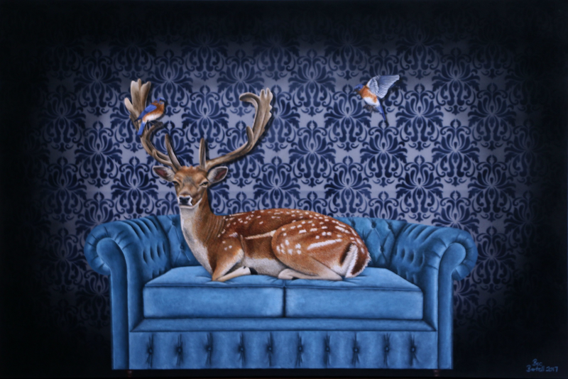 (CreativeWork) Creature Comforts (Framed Limited Edition Print) Ed. 4 of 4 by Bec Bartell. Print. Shop online at Bluethumb.