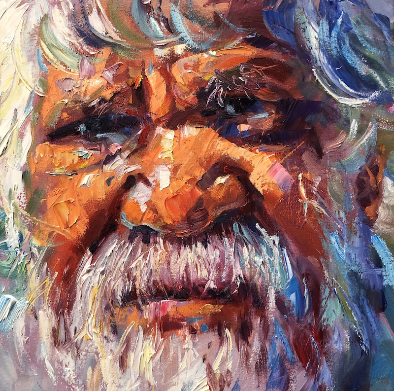 (CreativeWork) Wisdom 4 by Jos Coufreur. Acrylic Paint. Shop online at Bluethumb.