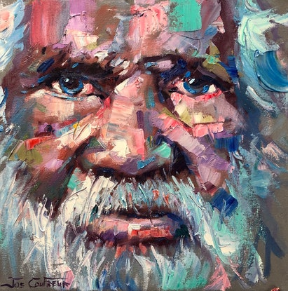 (CreativeWork) Wisdom 5 by Jos Coufreur. Oil Paint. Shop online at Bluethumb.