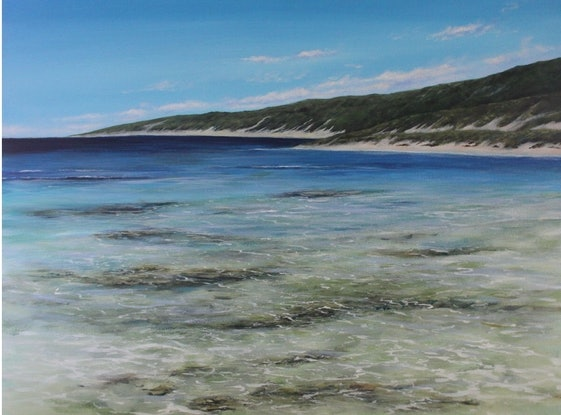 (CreativeWork) In the shallows, Yallingup  by Ann Steer. Acrylic Paint. Shop online at Bluethumb.
