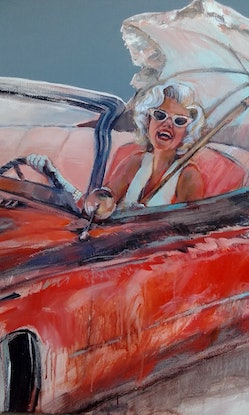 (CreativeWork) Caddy Chic by Carmen McFaull. Acrylic Paint. Shop online at Bluethumb.