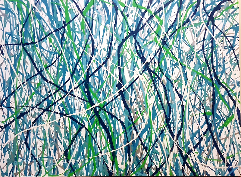 (CreativeWork) In the Breeze by Wendy Hocking. Acrylic Paint. Shop online at Bluethumb.
