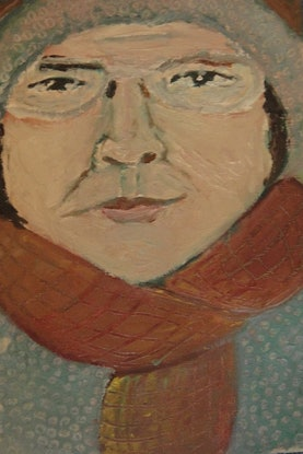 "(CreativeWork) ""Olivier"" (116 of 230 mfl)  by elij foote. Oil Paint. Shop online at Bluethumb."