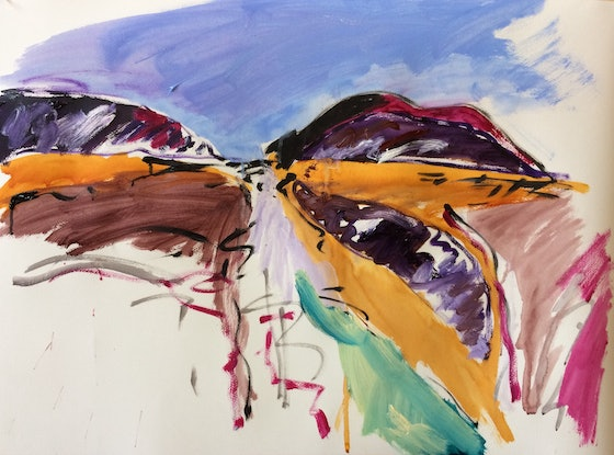 (CreativeWork) Landscape Number 1 by Ron Holden. Acrylic Paint. Shop online at Bluethumb.