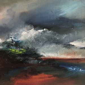 (CreativeWork) Day Divided  by Joanne Duffy. oil-painting. Shop online at Bluethumb.
