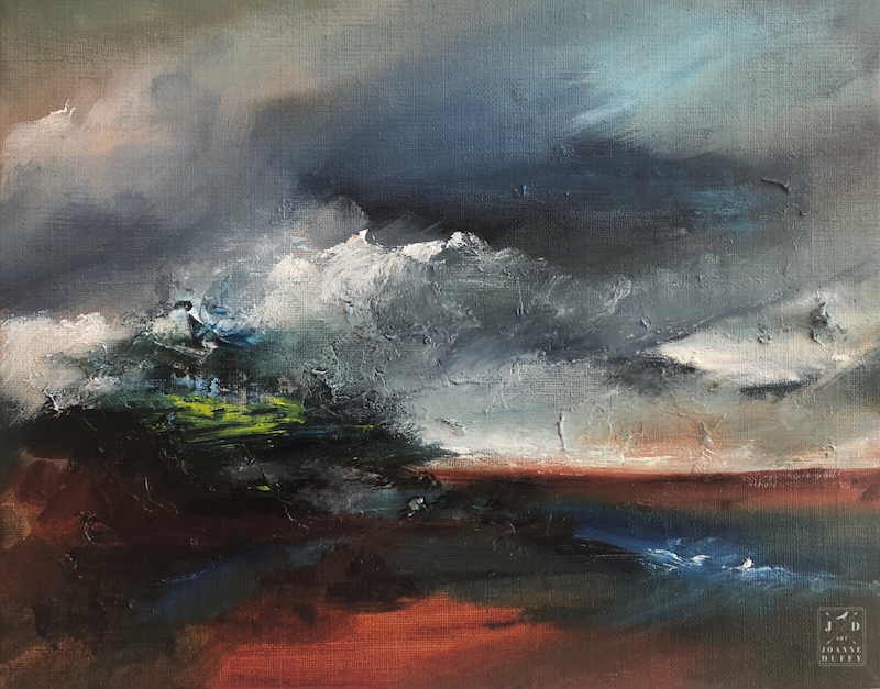 (CreativeWork) Day Divided  by Joanne Duffy. Oil Paint. Shop online at Bluethumb.